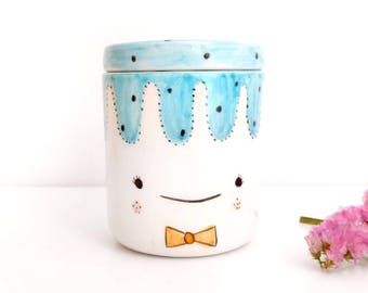 Ceramic french butter keeper with lid, Cute Ceramic butter dish, French butter crock, Butter holder, Butter container, Ceramics & pottery,