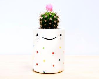 Ceramic planter, Ceramic pencil holder, Ceramic toothbrush holder, Desk accessories organization, Ceramics pottery, bathroom accessories