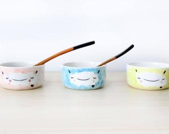 Small Ceramic sheep bowls, Ceramic bowl handmade pottery, Ceramic bowl set, Ceramic bowl serving, Small ceramic bowls, Ceramic bowl for kids