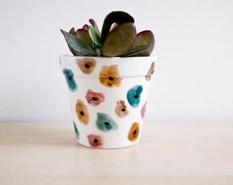Plantador de cerámica, suculenta maceta, maceta de cerámica, cerámica y lozas, ollas de cerámica, macetas de cerámica, suculento pote, pote de cerámica