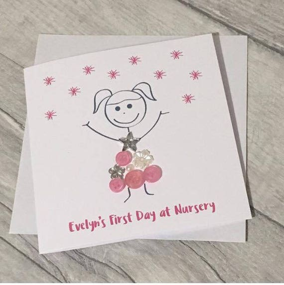 Personalised first day at nursery or school greetings card etsy image 0 m4hsunfo