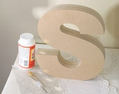 Standing Wood Letter Personalized Standing Wooden Letter DIY Letter Custom Font Size