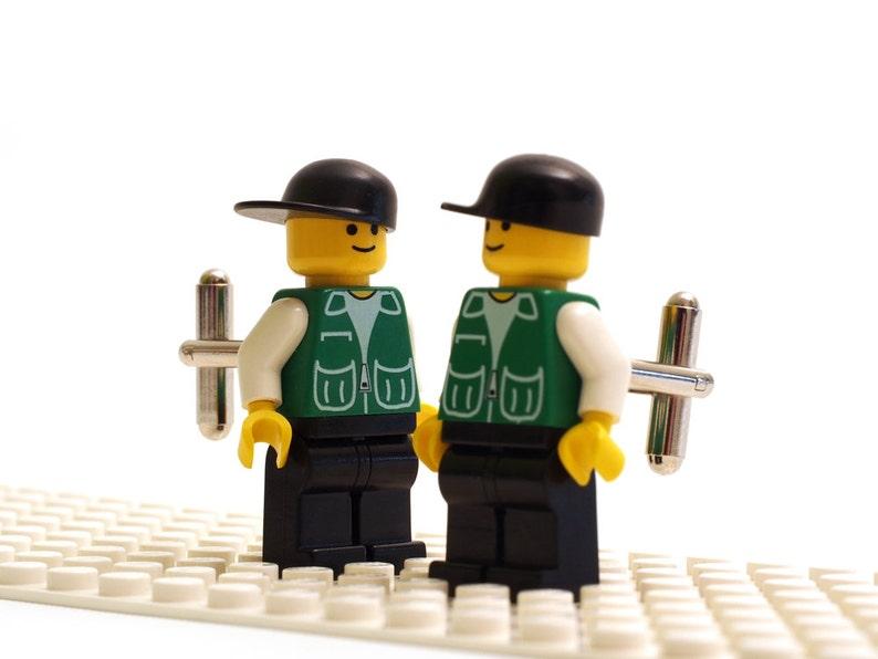 Cuff links Cufflink Wedding gift bricks Cufflinks made with LEGO Mountain rescue cufflinks R