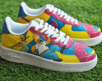 0cba0c75f6a3 Customised Nike Air Force 1 - The Simpsons
