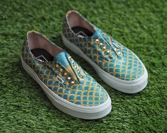16d7aed022 Customised Vans - Mermaid shoes