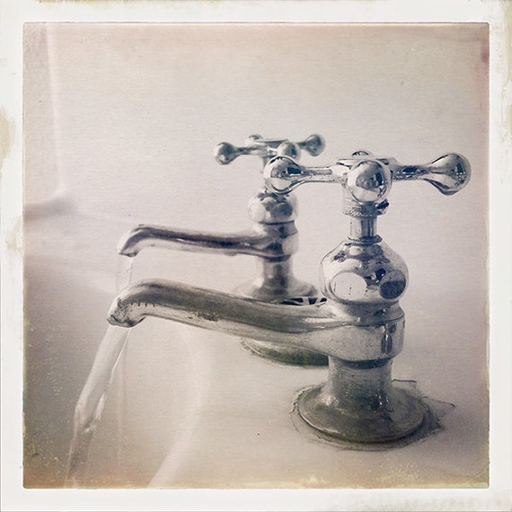 Vintage Faucet Bathroom Decor Photography Black And White Etsy