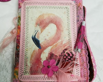 Mini Festive Flamingo Softcover Journal