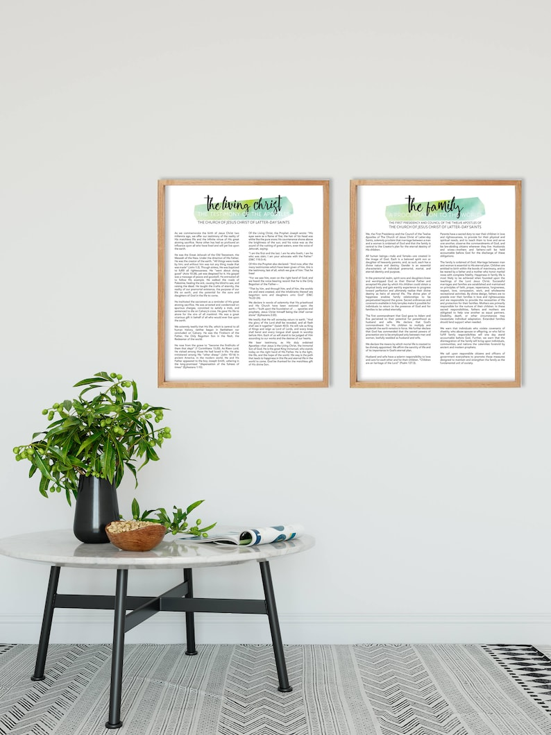 picture relating to The Living Christ Free Printable identify The Dwelling Christ and The Spouse and children Proclamation Printable Fastened, 8x10, 16x20, 20x30, Innovative LDS Proclamation and Dwelling Christ, LDS Artwork