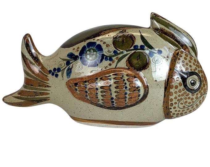Mexican Hand-Made Tonala Stoneware Fish