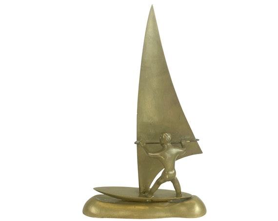 Solid Brass Wind Surfer