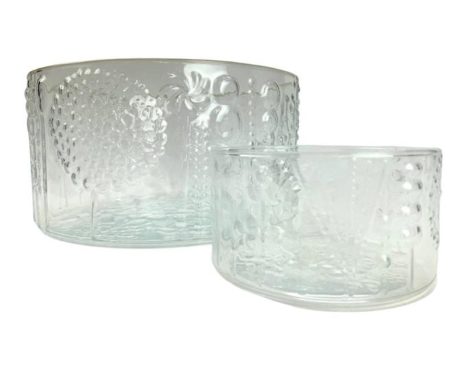 Pair Oiva Toikka Flora Bowls for IIttala
