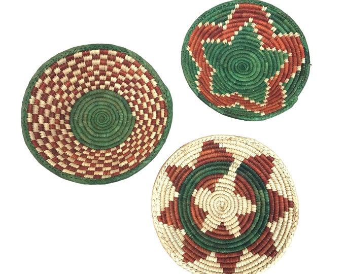 Southwest Handwoven Catchall Bowls, S/3