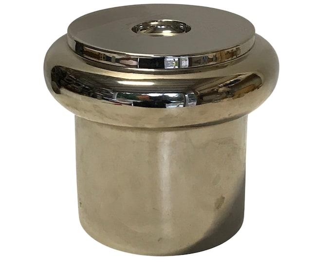 1970s Modernist Chrome Ice Bucket