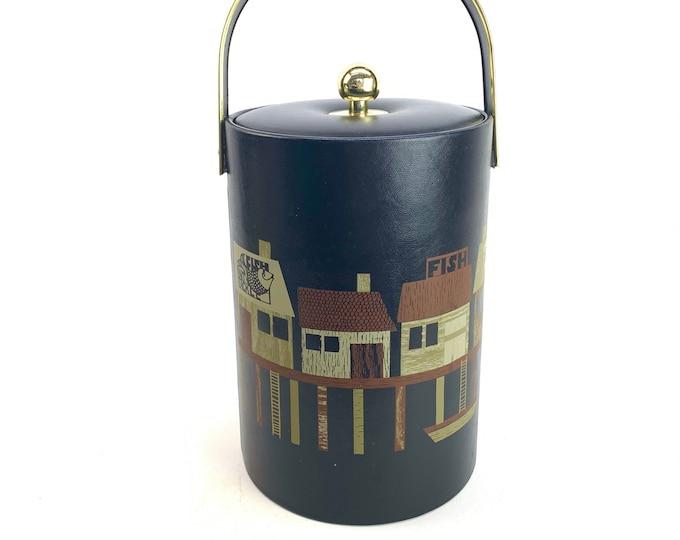 1960s Couroc Ice Bucket of Wharf
