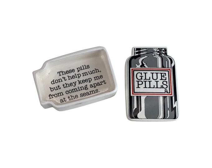 """1974 """"Glue Pills"""" Box by Fitz & Floyd"""