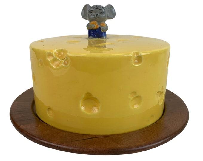 Hand-Made Ceramic Cheese Server w/ Dome