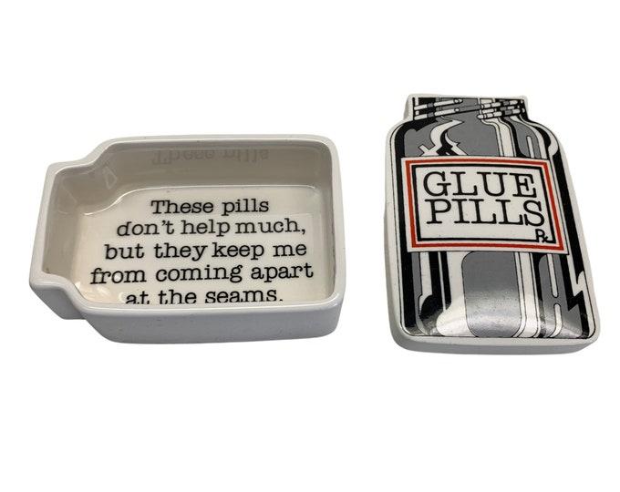 """1979 """"Glue Pills"""" Box by Fitz & Floyd"""