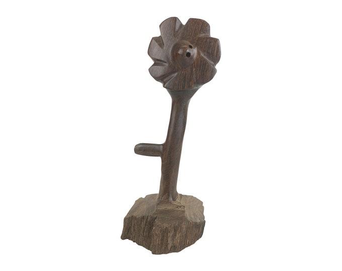 Hand-Carved Ironwood Stemmed Flower
