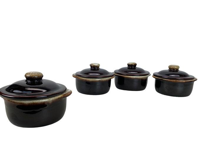 Pfalzgraff Lidded Crock Pots, S/4
