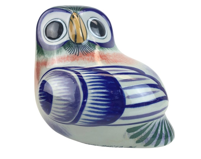 Mexican Tonala Stoneware Owl