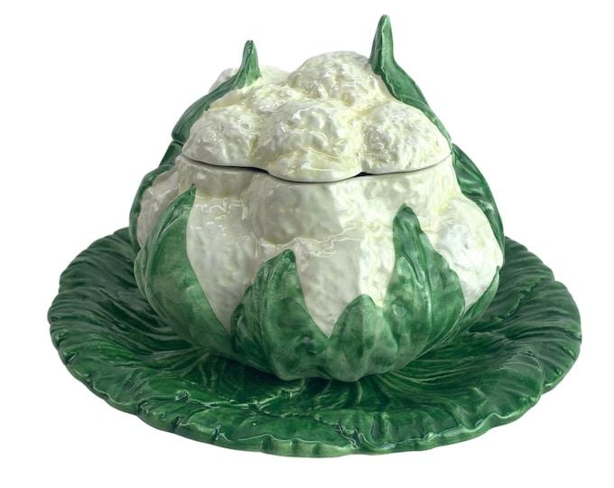 Italian Majolica Cauliflower Bowl