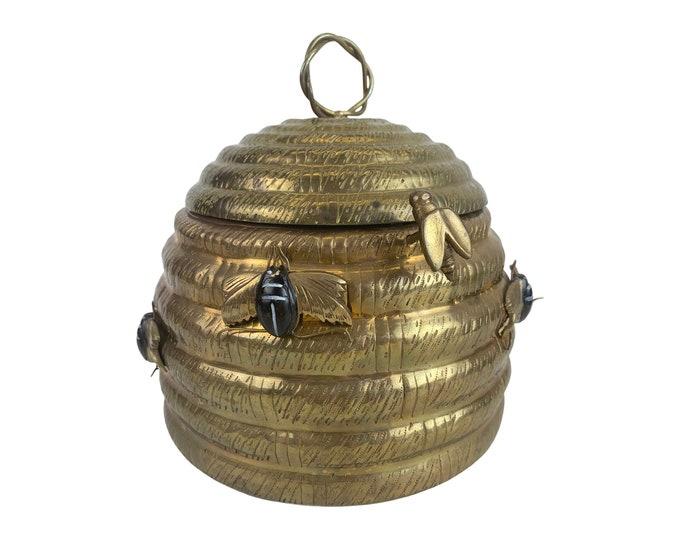 Solid Brass Beehive Lidded Box