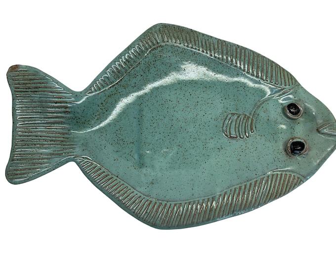 Hand-Made Flounder Fish Platter