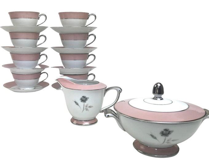 Midcentury Pink Porcelain Tea/Coffee Set