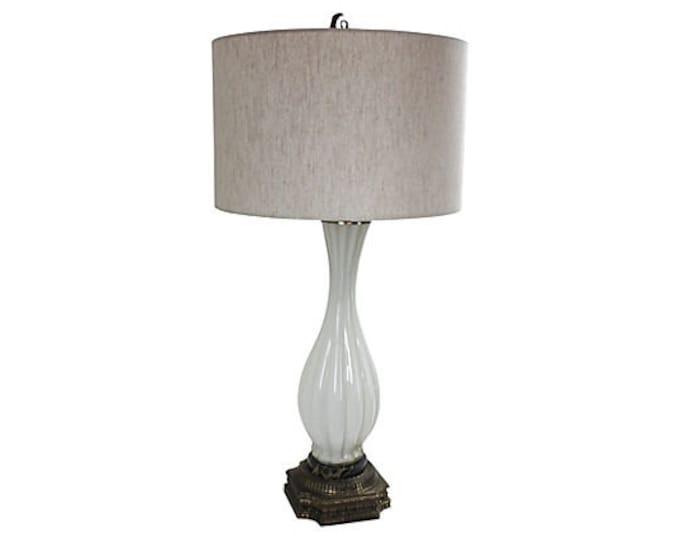 Murano Bullicante Gold Aventurine Lamp - Archimedes Seguso designer