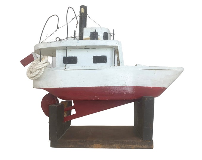 Hand-made Fishing Vessel on Stand