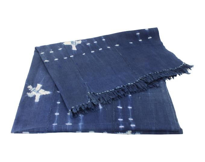 African Indigo Mud Cloth Throw