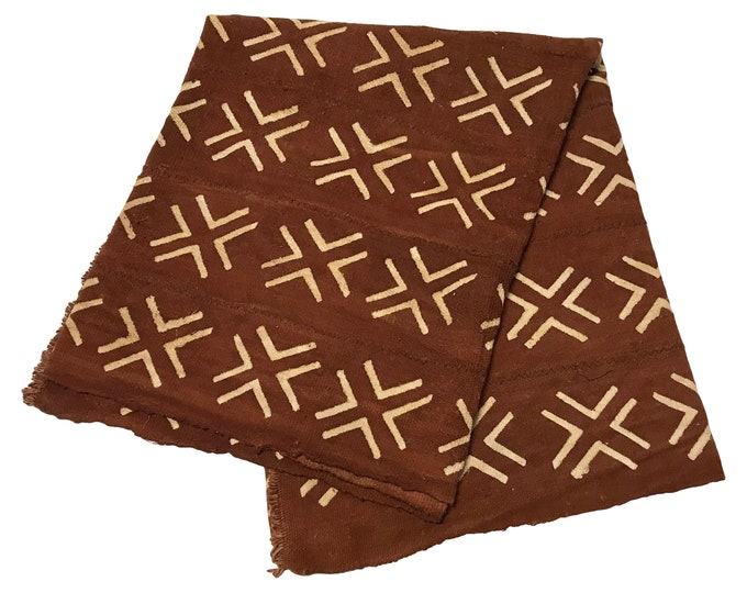 African Brown Mudcloth Throw