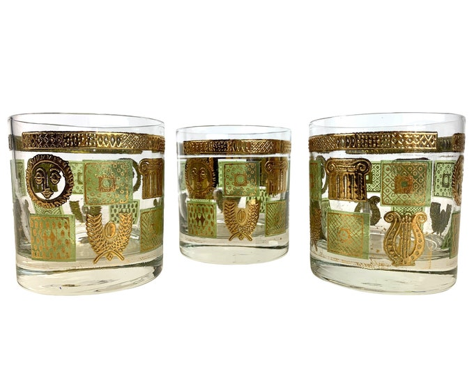 Georges Briard Lowball Glasses, Set of 3