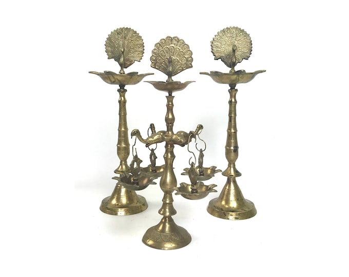 Indian Solid Brass Oil Burners