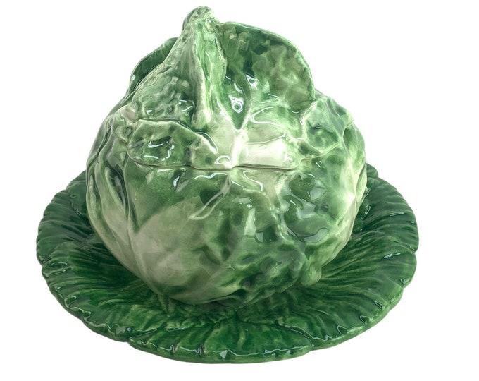 Italian Majolica Covered Cabbage Bowl