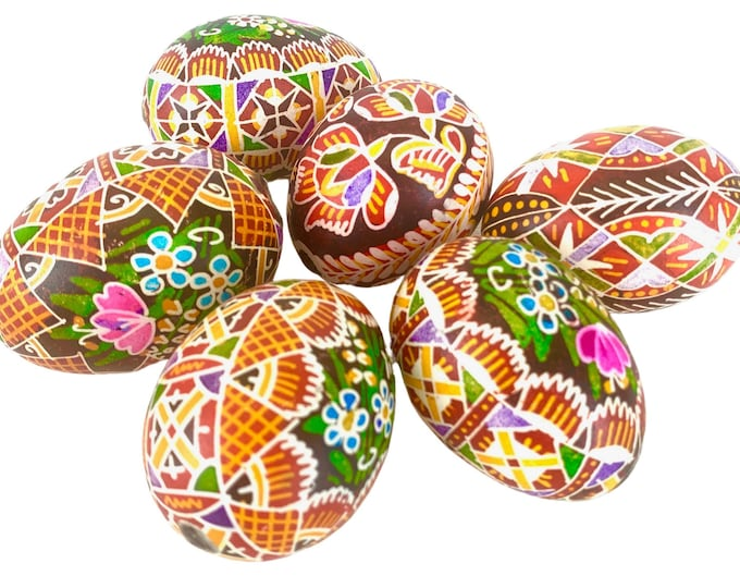 Romanian Painted Easter Eggs, S/6