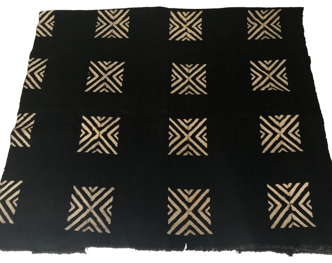 African Black & White Mudcloth Throw