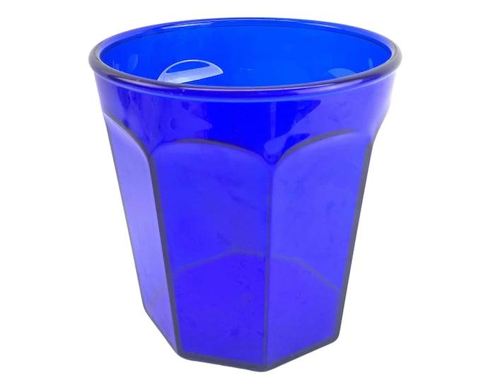 1970s Cobalt Blue Lucite Ice Bucket