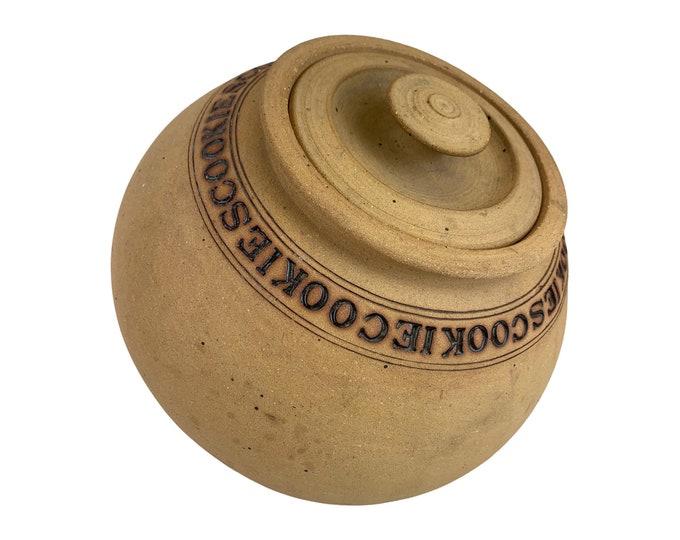 1970s Hand-Made Stoneware Cookie Jar