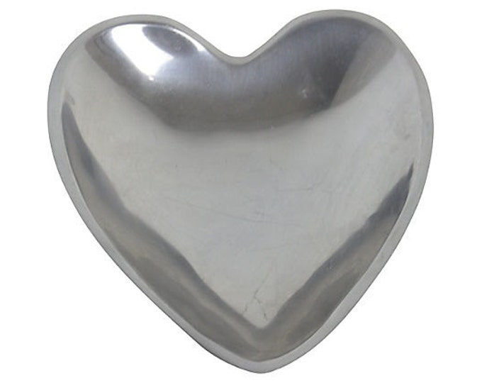Vintage Nambé Heart Bowl or Catchall