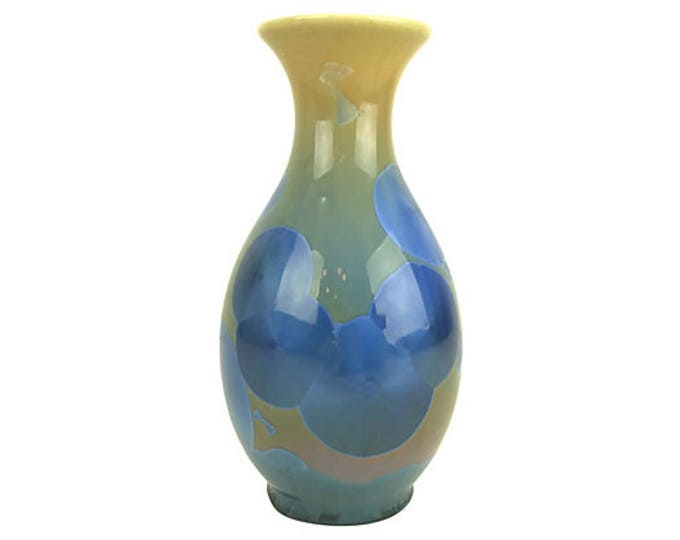 Hand-Turned Crystalline Glaze Vase