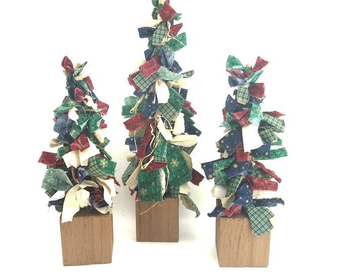 1980s Rag Christmas Trees, S/3