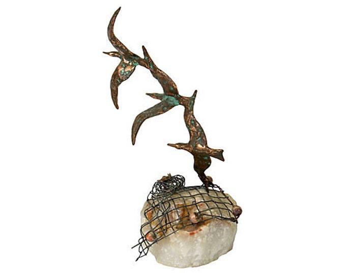 Bronze Seagulls on Quartz, Curtis Jeré