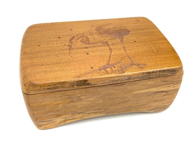 Hand-Carved Live Edge Sandpiper Box