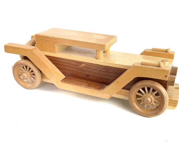 Hand-Made 1930s Rolls Royce Wood Model