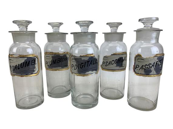 19th-C. Apothecary Pharmacy Jars, S/5