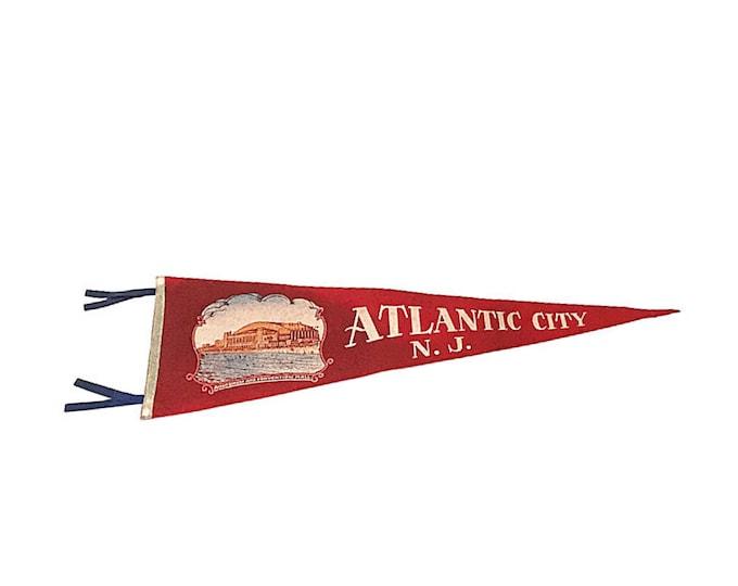 1950s Atlantic City Tourist Pennant
