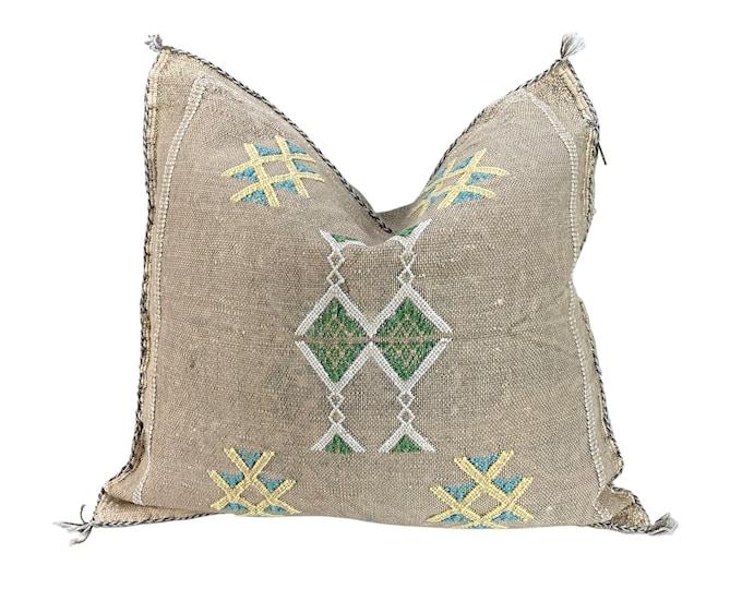 Moroccan Sabra Silk Throw Pillow