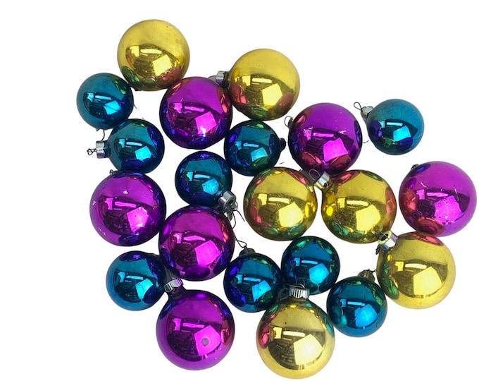 1960s Mercury Glass Ornaments, S/21