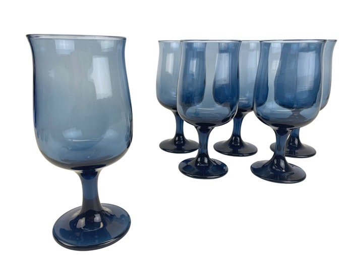 Sapphire Glass Wine Glasses, S/6